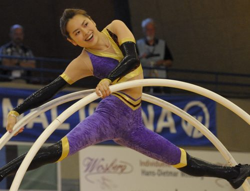Competition clothing in wheel gymnastics